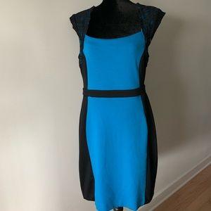 Nicole Miller Blue and Black Dress